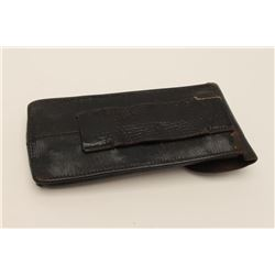 Artillery Luger pouch for 2 clips in good  condition with repair to tab. Est.: $125-250