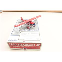 1930 Stearman 4E dicast biplane bank Chevron  1st in the series, highly collectable, by  Ertl Collec