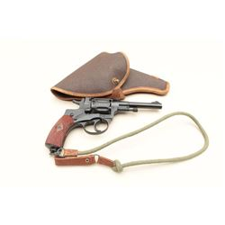 "Russian Nagant DA revolver, dated 1935,  import-marked, 7.62 mm caliber, 4.5"" barrel,  re-blued fini"