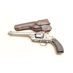 "Smith & Wesson Model 3 top break single  action revolver, appears to be .38/40  caliber, 6.5"" barrel"