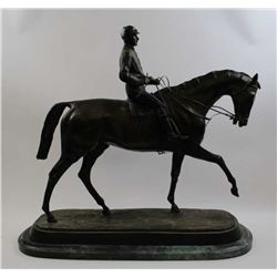 Large posthumous bronze on marble base by P.J. Mene of