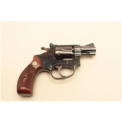 Smith  Wesson Model 34 DA revolver with adjustable rear
