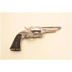 """Merwin & Hulbert Frontier single action  revolver, open top, .44 caliber, barrel  reduced to 4.5"""", r"""