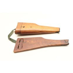 Lot of 2 pistol stocks as described: 1. Chinese stock for a Browning Hi Power.  Well marked. Very go