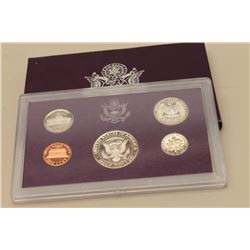 United States Proof set dated 1985.  The US  proof set features a Kennedy half dollar,  Washington q