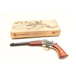 Modern Rolling Block single shot pistol by Uberti, .22LR caliber,