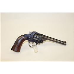 "Iver Johnson Supershot Sealed Eight #4455,  .22 LR, 6"" barrel, checkered wood grips.   Revolver is i"