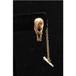 14k gold horses ass tie tac with plated back. Great