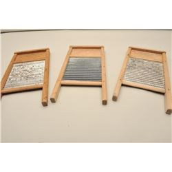 3 miniature advertiser wash boards. Est.: $70-140