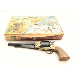 "Navy Arms 1858 Remington kit gun, #53, .44  cal black powder, 8"" barrel, grips have been  rough cut"