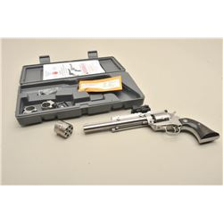 "Ruger New Model Single Six Stainless  #265-89020, .22 LR and .22 Mag dual cylinder,  7 1/2"" barrel,"
