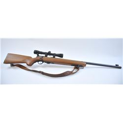 "Mossberg Model 144LSB .22 caliber bolt action  target rifle, S/N 591595. Heavy round 26""  barrel, ad"