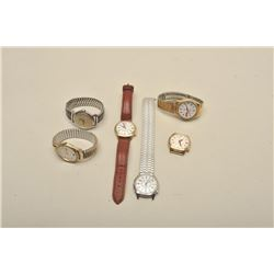 Wristwatch Collection from Les Gilman Estate.  5 pcs Accutron Steel case, 24 hr dial, RR218, sweep