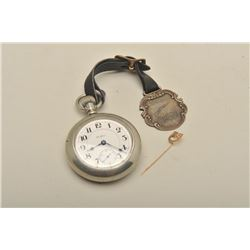Rockford Railroad Watch with engraved Train back, #519698, 21 jewels,