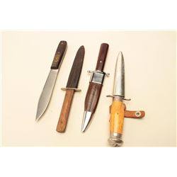 J. Russel Co. Green River #'d Comm. Knife,,  Swedish Knife, Repro Bowie and Dickinson  Sheffield bel
