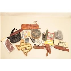 Lot of misc. from Collector's office, gauges,  locks, parts, gun stuff, misc. items.  Est:$150-300