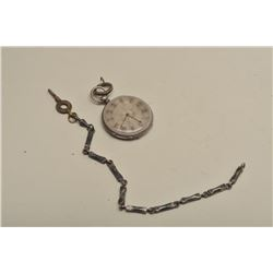 Open face pocket watch, silver engraved case,  early to mid 19th century European, unable  to open,
