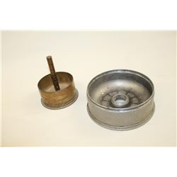 """Two U.S. Naval Gun's fuse plates. One  measures 4"""" and the other 6"""". WWII. Est.:  $100-$200"""