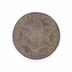 1854 3-CENT SILVER, XF