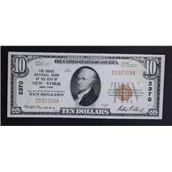 1929 $10 TY1 NATIONAL CURRENCY CH.XF