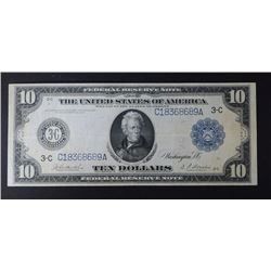 1914 $10 FEDERAL RESERVE NOTE CH.VF