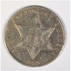 1859 THREE CENT SILVER XF