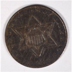 1856 THREE CENT SILVER VF SCRATCHES