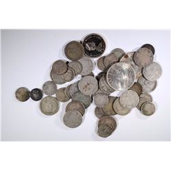 45-80% SILVER FOREIGN COINS MANY OLDER COINS
