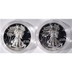 (2) 1999 Proof American Silver Eagles