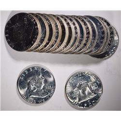 16 - 1963 FRANKLIN HALF DOLLARS CHBU