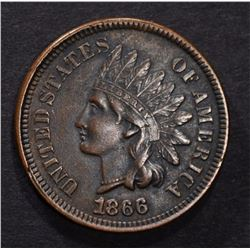 1866 INDIAN HEAD CENT XF/AU