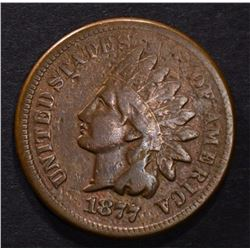 1877 INDIAN CENT FINE KEY DATE