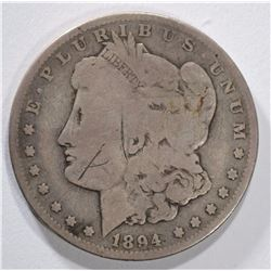 1894 MORGAN DOLLAR VG SCRATCH OBV.