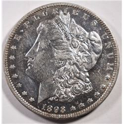 1893-O MORGAN DOLLAR AU+