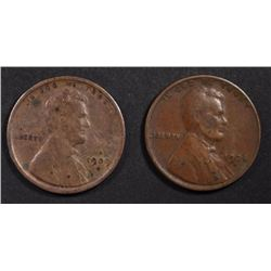 1924-D F-VF & 1909-S VG LINCOLN CENTS