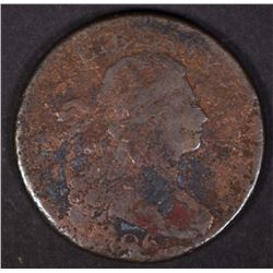 1806 DRAPED BUST LARGE CENT, AG