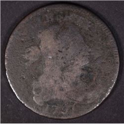 1797 DRAPED BUST LARGE CENT, AG
