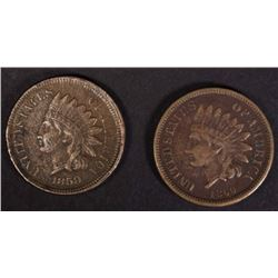 1859 & 1860 INDIAN HEAD CENTS VF