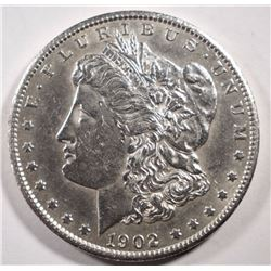 1902-S MORGAN DOLLAR AU+
