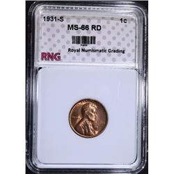 1931-S LINCOLN CENT RNG SUPERB GEM RD