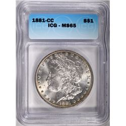 1881-CC MORGAN DOLLAR ICG MS65