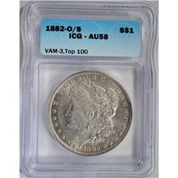 1882-O/S MORGAN DOLLAR ICG AU58