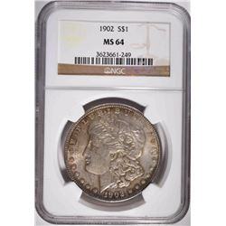 1902 MORGAN DOLLAR NGC MS 64