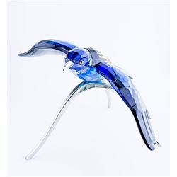 "Retired-Swarovski Crystal Blue Turquoise Paradise Roller Bird  ""Silver Lake"" collection"""