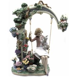 "Lladro Limited Edition ""SWING INTO SPRING"" 01008311 Retired"