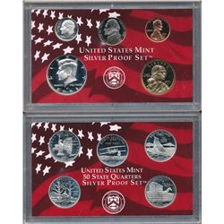 Lot of (3) U.S. Silver Proof Sets 2001, 02 & 03