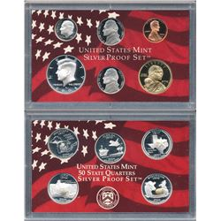 Lot of (3) U.S. Silver Proof Sets 2004, 05 & 06