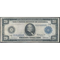 1914 - $20.00 Federal Reserve Note