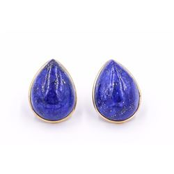 Large 14K Lapis Lazuli Earrings