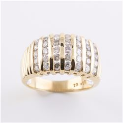 10K Wide 1.00 Carat Total Weight Diamond Band